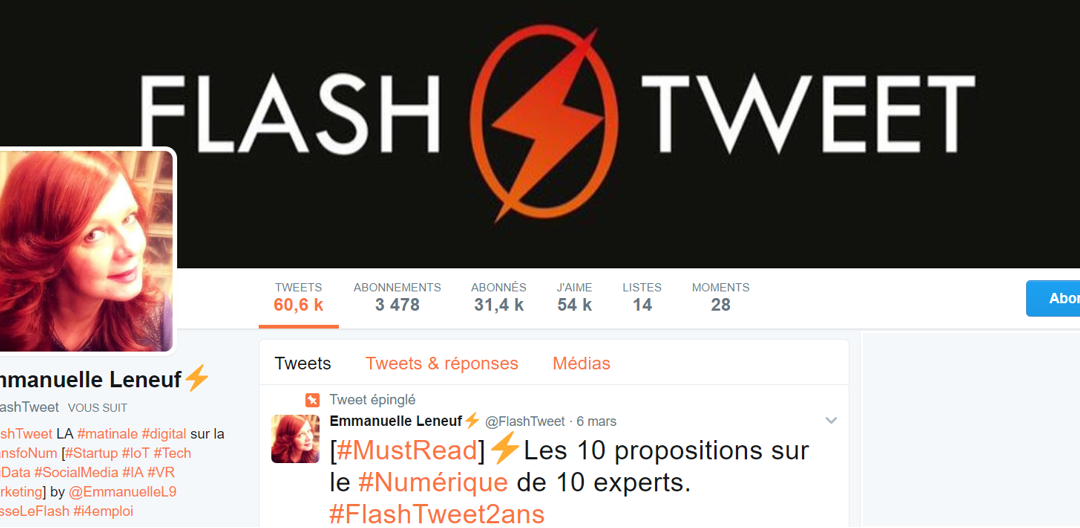 [Frappée du mois] Emmanuelle Leneuf, fondatrice du FlashTweet