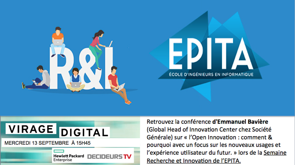 [Virage Digital] En direct de l'EPITA, avec Emmanuel Bavière, Global head of innovation center de la  Société Générale