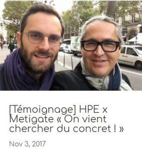 HPE x Metigate témoignage startup
