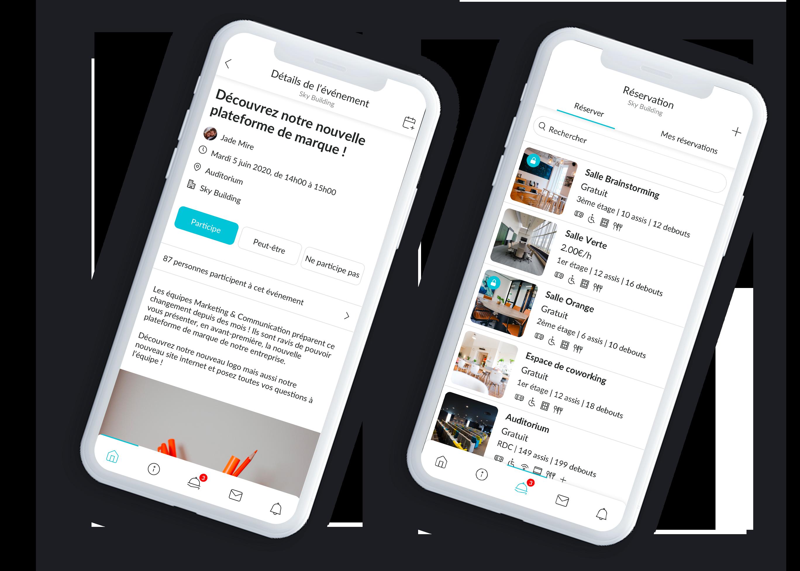 Application MonBuilding - Mobile - Siège Social